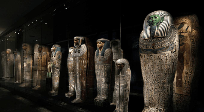 ライデン国立古代博物館の常設展示の様子