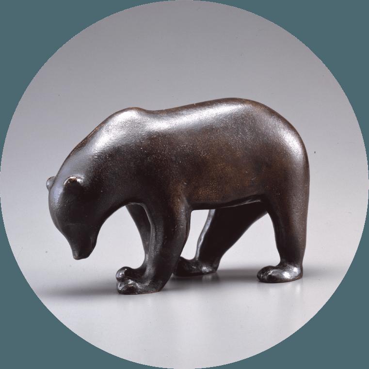 《ヒグマ》 1918-1926年 / ブロンズ 群馬県立館林美術館蔵