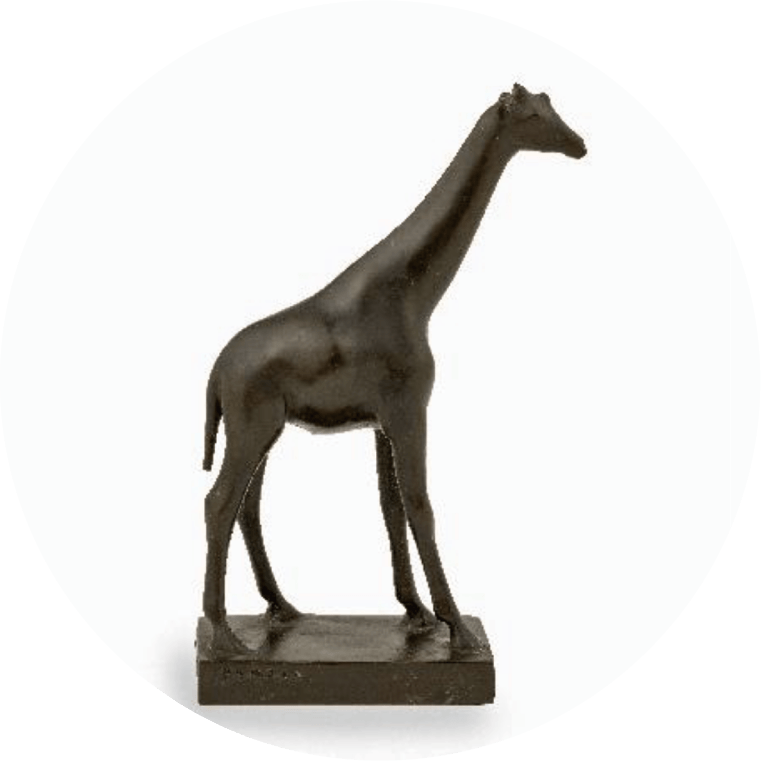 《キリン》 1906-1929年 / ブロンズ ディジョン美術館蔵(国立自然史博物館より寄託) © Musée des Beaux-Arts de Dijon/François Jay