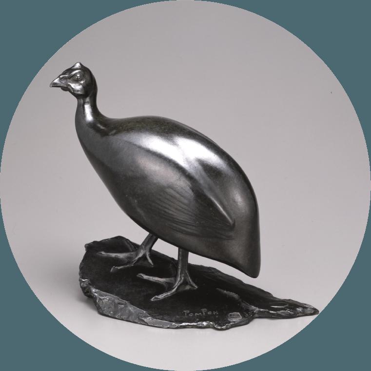 《ほろほろ鳥》 1910-1912年 / ブロンズ 群馬県立館林美術館蔵